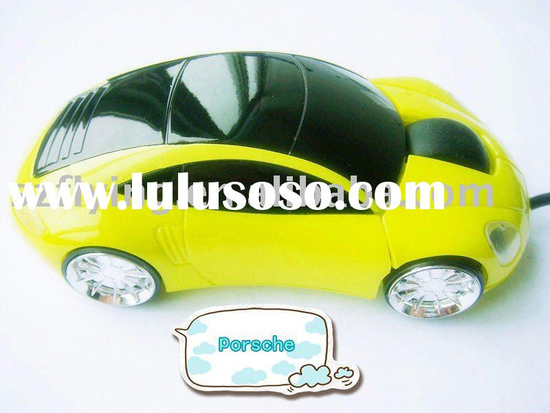 yellow porsche car wired optical pc gift mouse