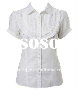 100%COTTON lady office shirt
