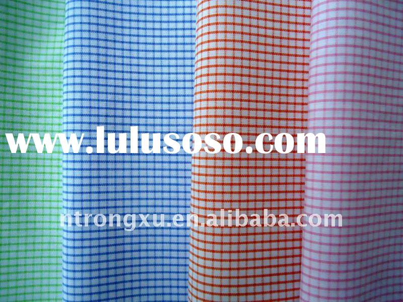 100% Cotton yarn dyed poplin fabric