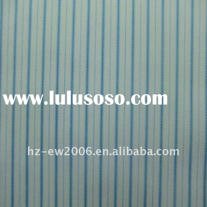 100%Cotton yarn dyed twill stripes 1/a wrinkle free finish