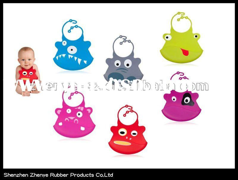 100% Food high grade silicone baby bibs with LFGB/FDA standard