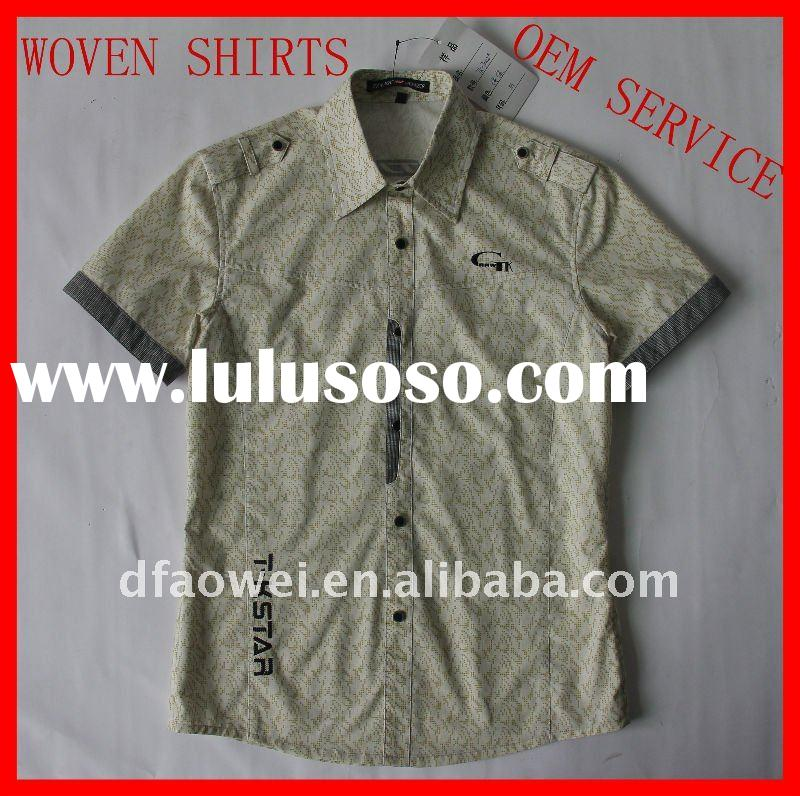 100%cotton casual shirts for men with polo style(OEM service)
