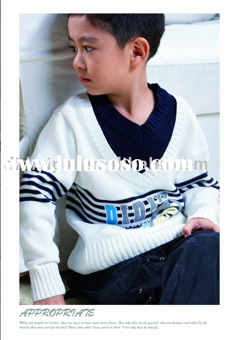 100% cotton child wear Kid Sweater