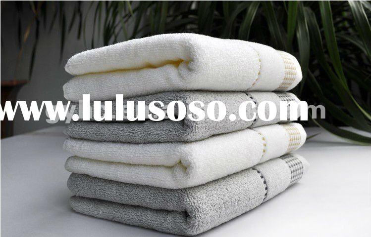 100% cotton terry yarn dyed face towel fabric