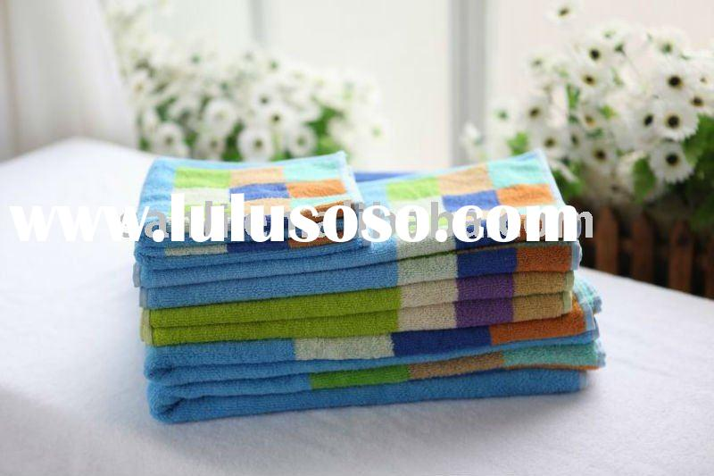 100% cotton yarn dyed jacquard towel