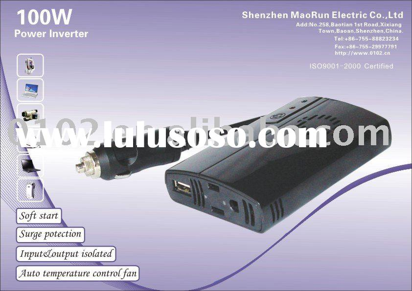 100w power inverter DC12V Car Charger to AC Laptop Outlet with Mobile Mp3 Ipod Iphone USB port ( MRI