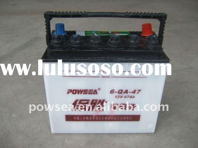 12V 47AH dry charged lead-acid battery