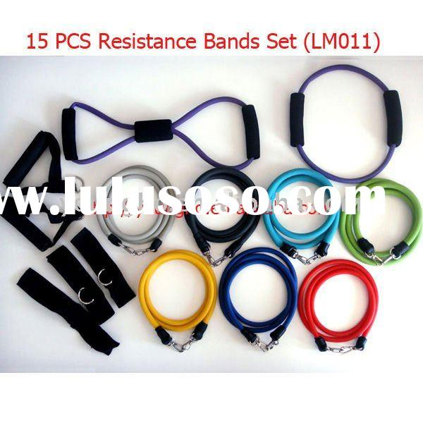 15 PCS Latex Resistance Band for yoga, abs workout ( LM011 )