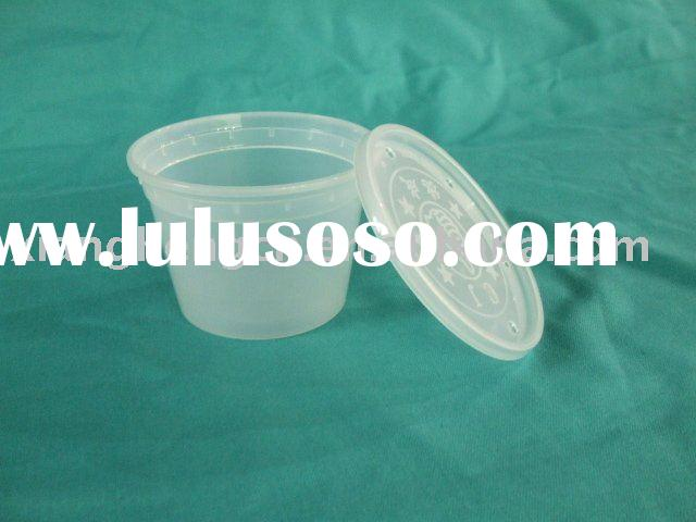 16oz plastic PP soup bowl / container with lid