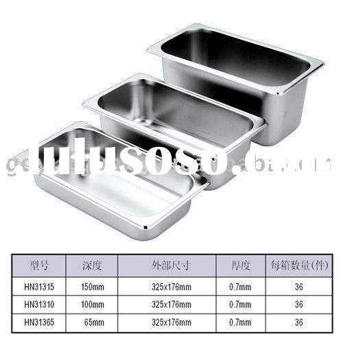 1/3 Stainless Steel Gastronorm Containers