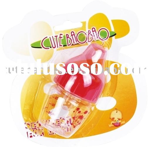 1.5oz Mini PC Feeding Bottle With Liquid Silicone Nipple