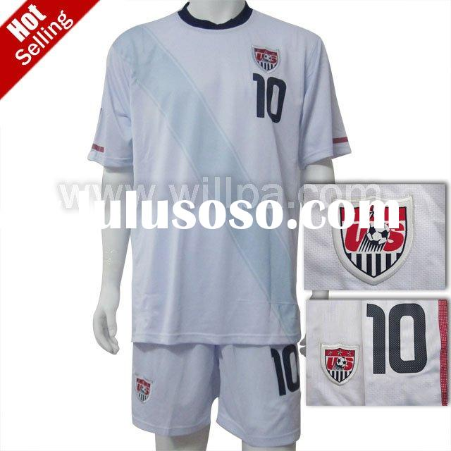 2010 latest USA home white soccer jersey ( Embroidered logo accept paypal )