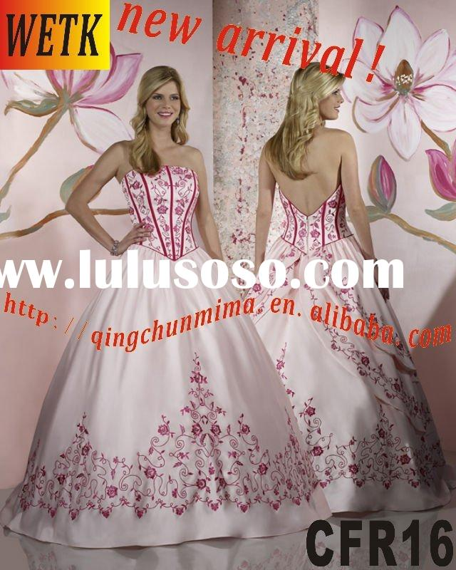 2010 most famous style wedding dress for Christmas day CFR16