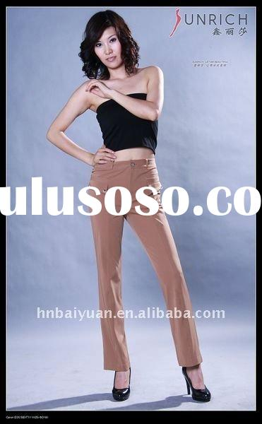 2011New Style Yellow Plus Size Pants for Women