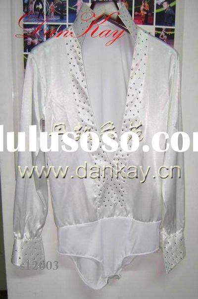 2011 Ballroom/Rumba/Salsa/Latin Dance Shirts,Men's Dancewears, Dancing Costumes (s12022)