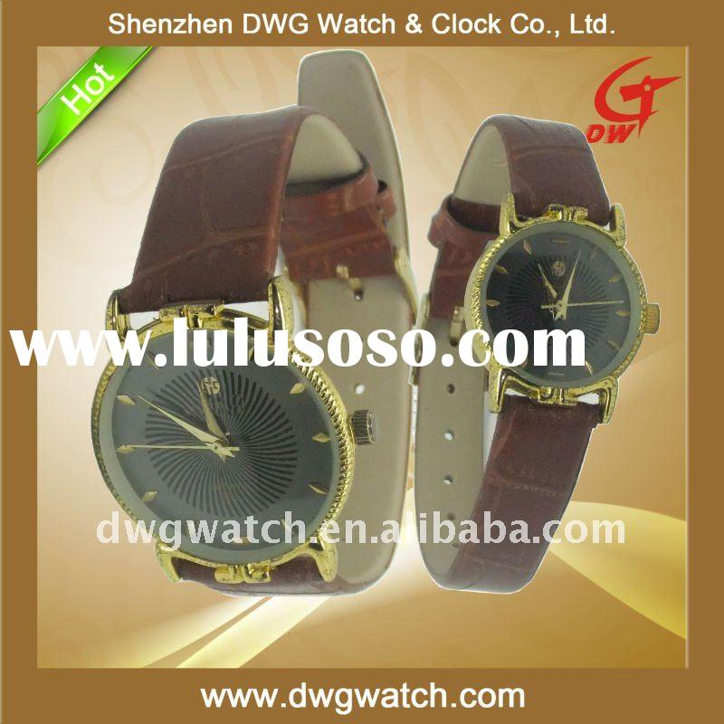 2011 Genuine Leather Lover Watches with Stainless Steel Case--DWG--L0077