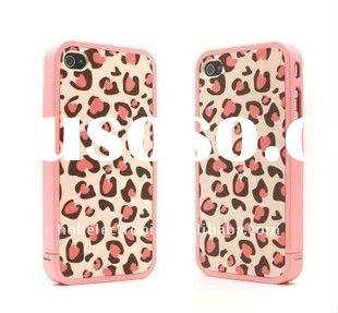 2011 High quality leopard plastic case for iPhone 4 4G