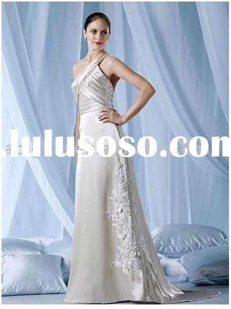 2011 New Cheap Customer-Made Design One Strap Sweep Zipper Back Evening gown