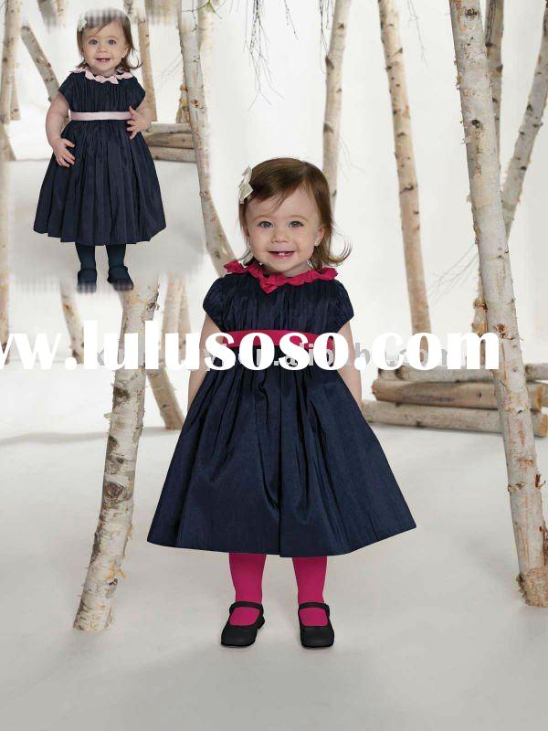 2011 New design simple dresses for kids party
