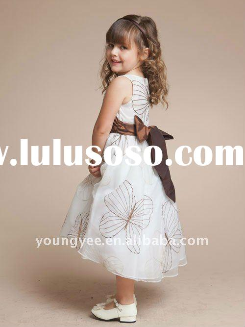 2011 New design sleeveless flower girl dresses for weddings,evening dress for children,children part