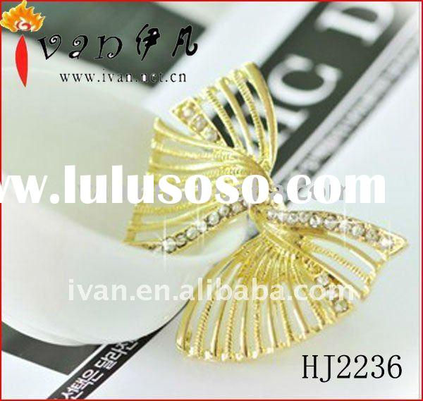 2011 Newest Fashion Bow Tie Gold Rings Design for Women