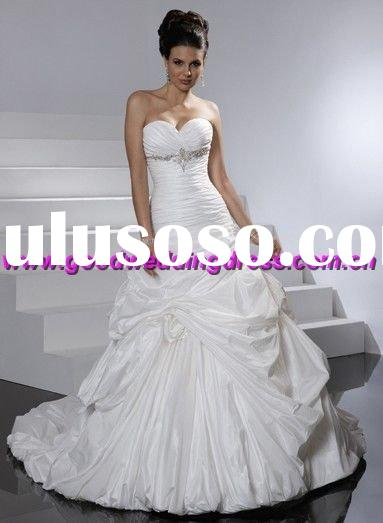2011 free shipping custom size all color wedding gown