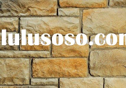 2011 high quality ,low carbon, environmental castle wall stone