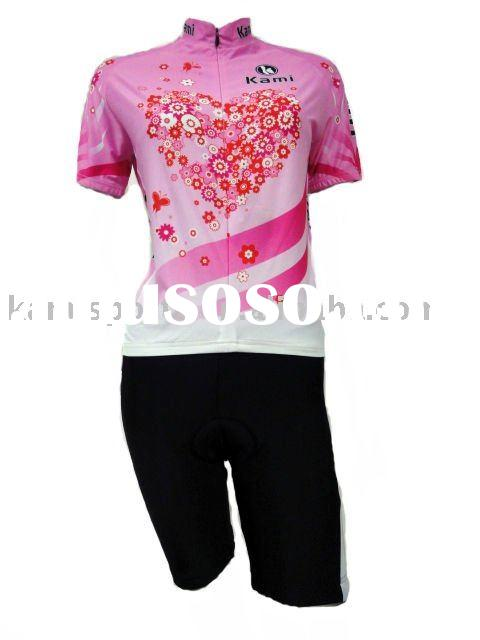 2011 ladies short sleeves sublimation flowers cycling wear