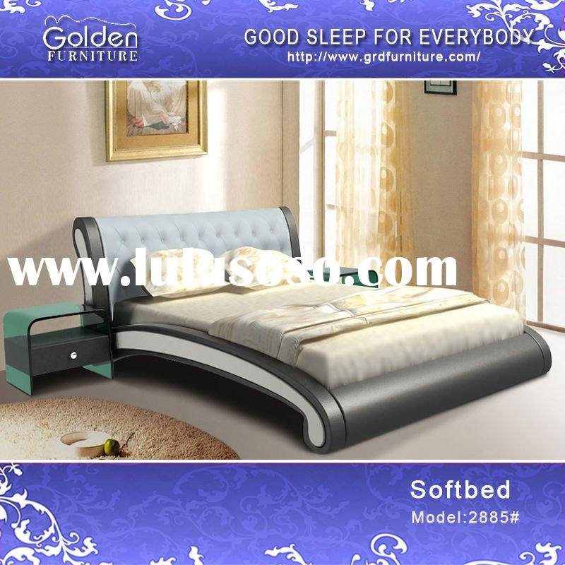2011 modern leather bedroom sets furniture