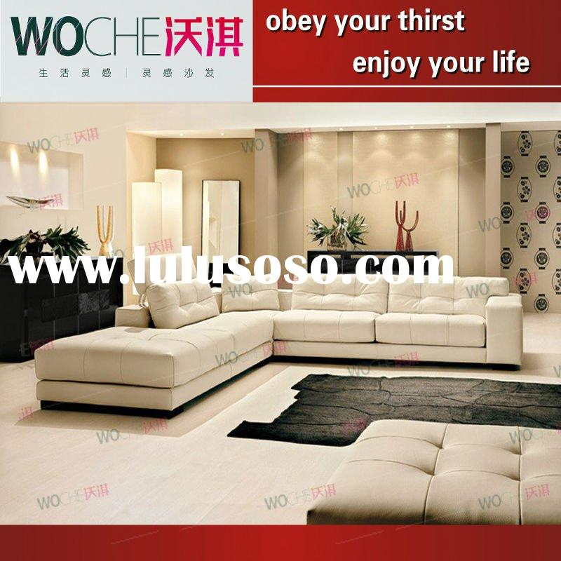 2011 modern living room furniture leather sofa(WQ6813)