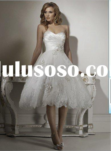2011 most beautiful and antique a-line mermaid sweetheart princess MG011 bridal gowns