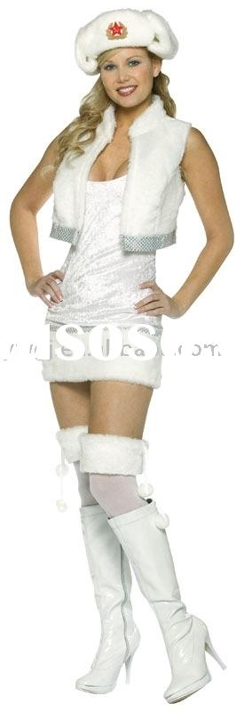 2011 newest hot Carnival dress carnival costume white-bond babe clothes