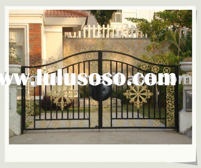 2011 newest modern wrought iron/metal gate designs for home and garden(I-G-0029)