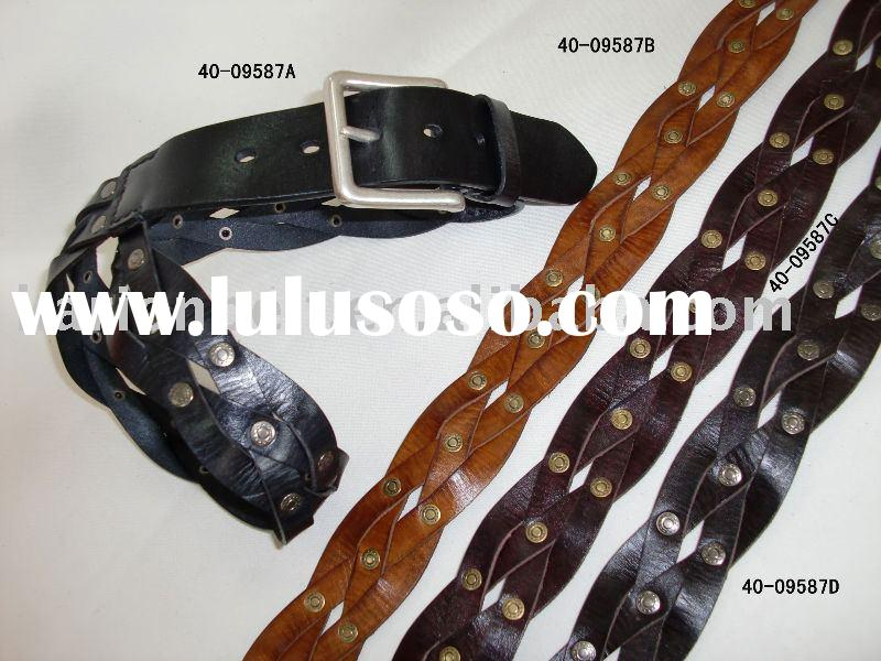 2012 Braided genuine leather belt just for you