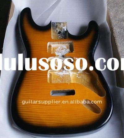 2012 High quality stratocaster guitar kit with tiger pattern