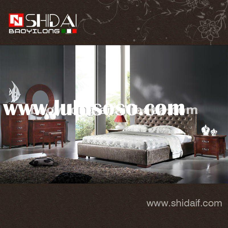 2012 Latest design fashion leather/ pu bedroom furniture set B85