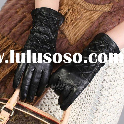 2012 NEW style ladies winter dress leather gloves