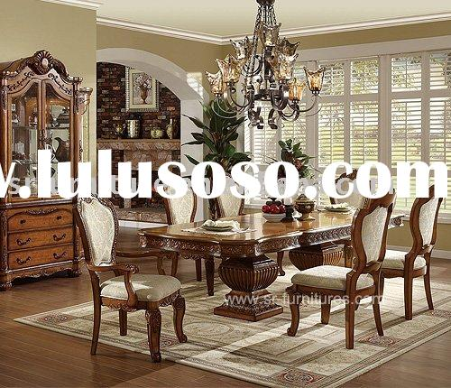 2012 New Style Antique Luxury Wooden Dining Table Set