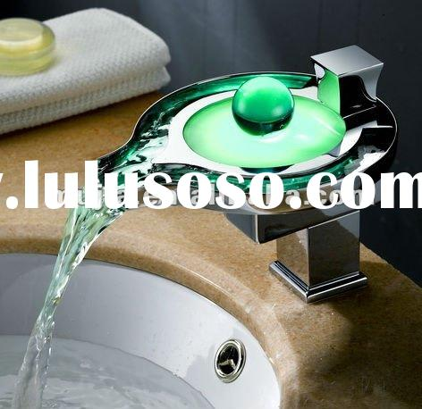 2012 New luxury Brass led waterfull faucet with long time guarantee