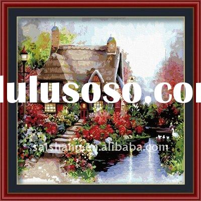 2012 diy oil picture/design hot selling DIY paint with numbers /best gifts for girls