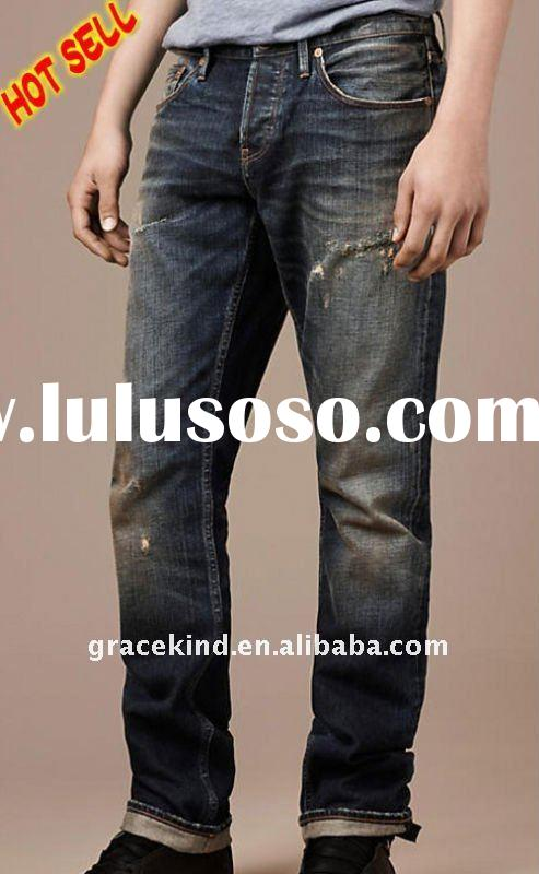 2012 fashion straight jeans for tall men