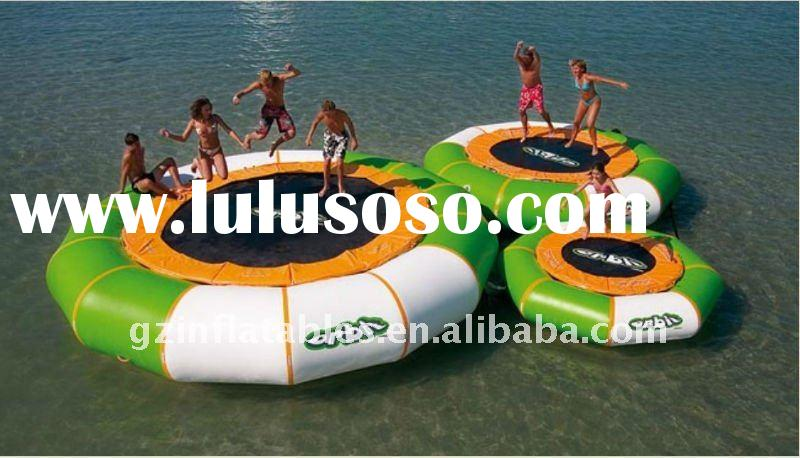 2012 new design inflatable water trampolin for kids and adults