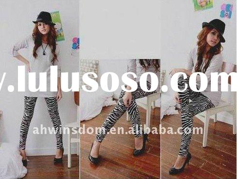 2012 newest style lady fashion zebra-striped design leggings