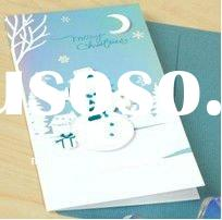 2013 new christmas greeting paper card