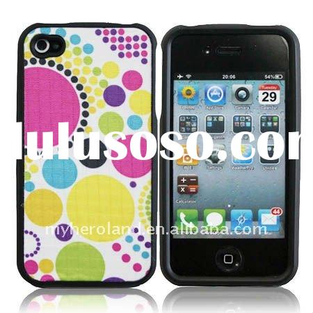 201 Fabric Skin Hard Plastic Case for iPhone 4 4G