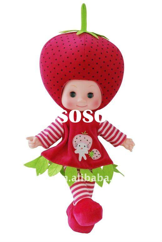 20'' cute,lovely and most popular singing & talkable fruit plush dolls, BO DOLL