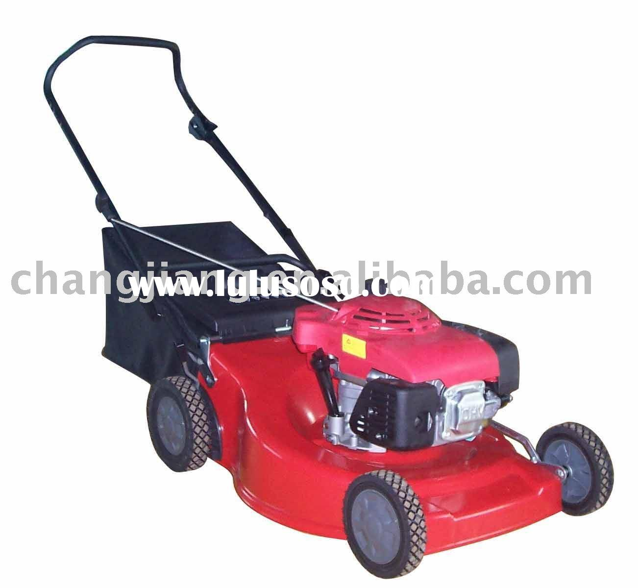 """21"""" hand push gasoline lawn mower with bag grass cutter and garden tools (CJ21TZSH55)"""