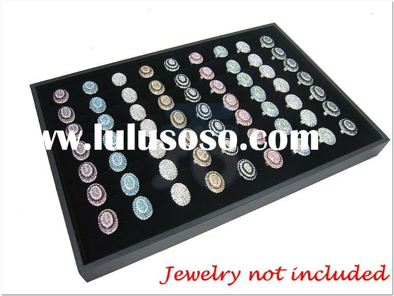 35*24*3cm Fashion Accessories retail display store fixture Black Velvet Jewelry Jewellery Ring Displ