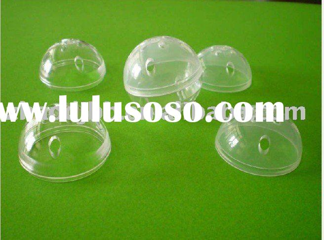 37mm transparent plastic PE christmas ball with 8 holes
