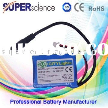 3.7V 800mAh lithium ion pack battery